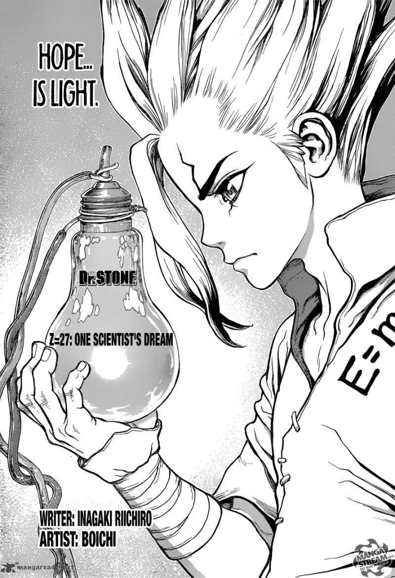 Dr. Stone : Chapter 27 image 002