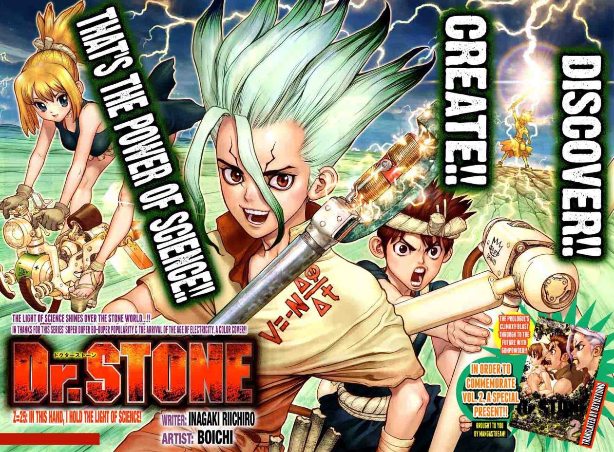 Dr. Stone : Chapter 25 - In this hand, I hold the light of science! image 003