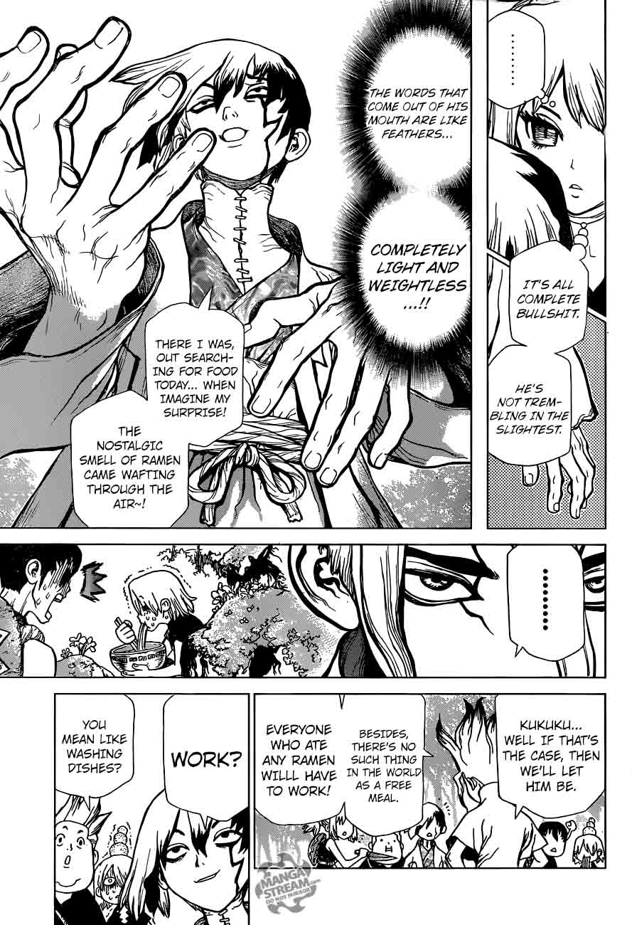 Dr. Stone : Chapter 23 - The Silver-tongued man image 010