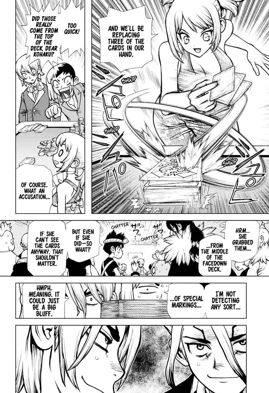 Dr. Stone : Chapter 144 - Ryusui & Gen vs. Senku & Kohaku image 014