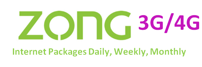 Zong Internet Packages Daily, Weekly, Monthly Updated