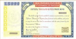 Rs. 15000 Prize Bond List