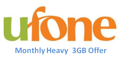 Ufone Monthly Heavy 3GB Offer