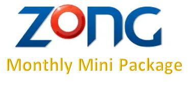 Zong Monthly Mini Package
