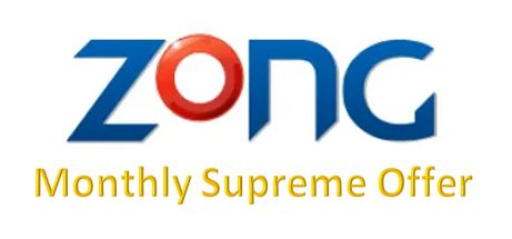 Zong  Monthly Supreme Offer