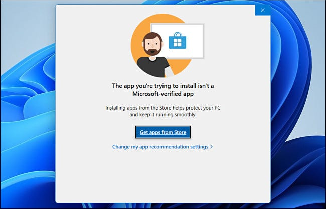 Only Allow Apps from the Store on Windows 11