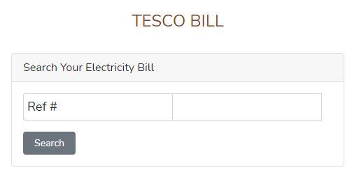 TESCO Online Bill