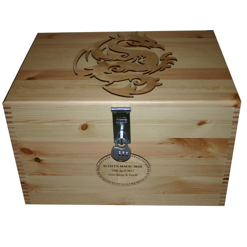 personalised pine wood xl