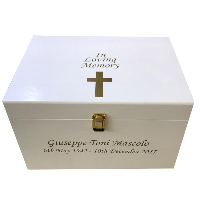 wooden bereavement memory box