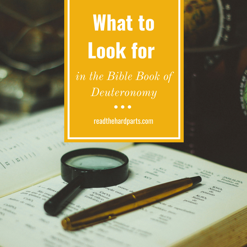 What to Look for in the Bible Book of Deuteronomy