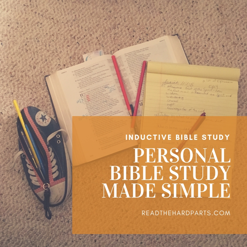 Personal Bible Study Made Simple: What is Inductive Bible