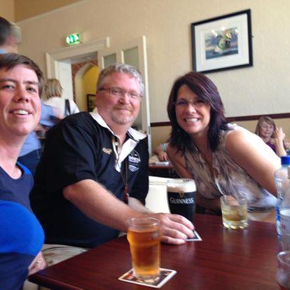 Liza Mattison and me Pretending We're Irish in Galway with Writer Joe Baillargeon