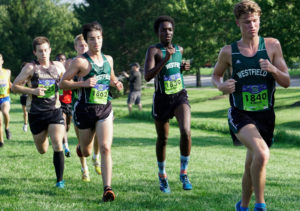 Mahamat Djour 1839 And Noah Douthit 1840 Were Part Of Westfield S Lineup In The Boys Championship Race At Flashrock Invitational