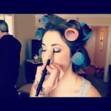 wedding pic dara getting makeup