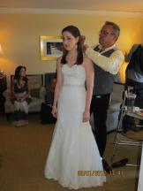 wedding picture of dara and makeup ben robin