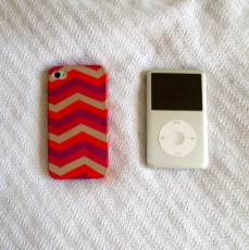 Technology has a home in my bag too. My phone is protected with a J.Crew cover and yes, I still rock the ipod classic.