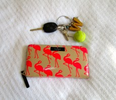If I'm not carrying quirky prints on my Kate Spade wallet, I'm showing off my monogram on my keys.