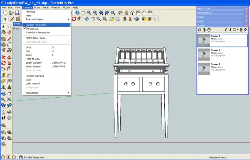 generate standard views in SketchUp