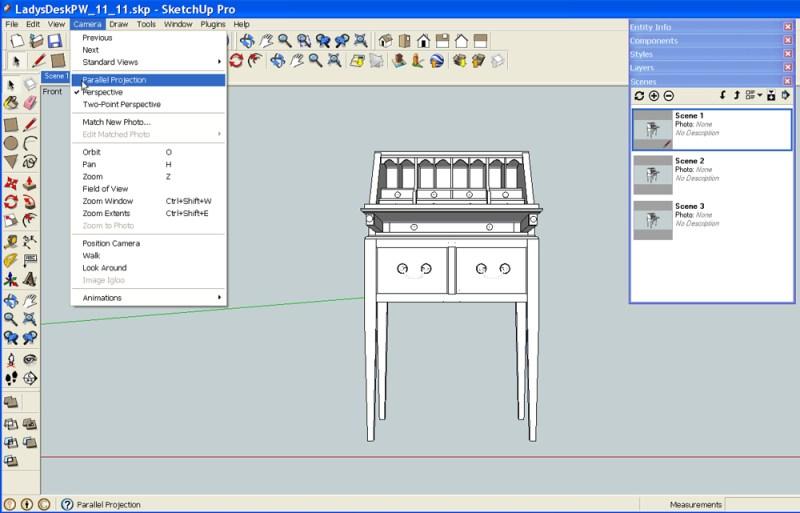 generate standard views in SketchUp