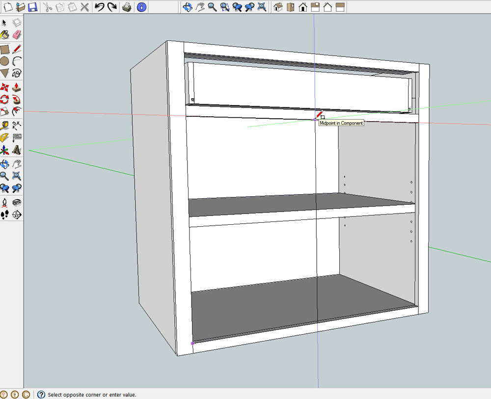 Make a rectangle the size of the door or drawer opening  sc 1 st  ReadWatchDo.com & Cabinet Doors and Drawers in SketchUp-What Size Should They Be ...