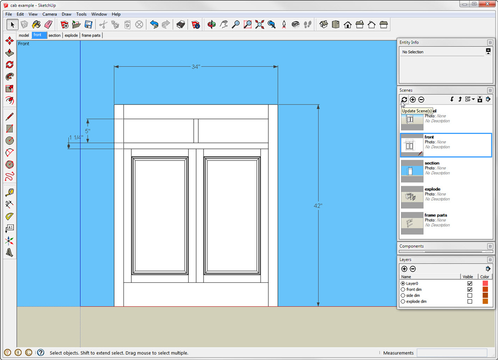 Organize a SketchUp Model with Scenes & LayersReadWatchDo com