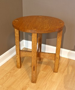 Small round Stickley Tabouret from the Craftsman magazine April 1905