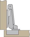 European half overlay hinge