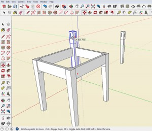 Add mortise and tenon to a SketchUp model.