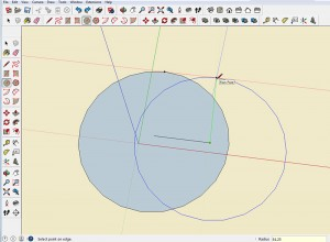 Pythagorean Theorem in SketchUp Step 2
