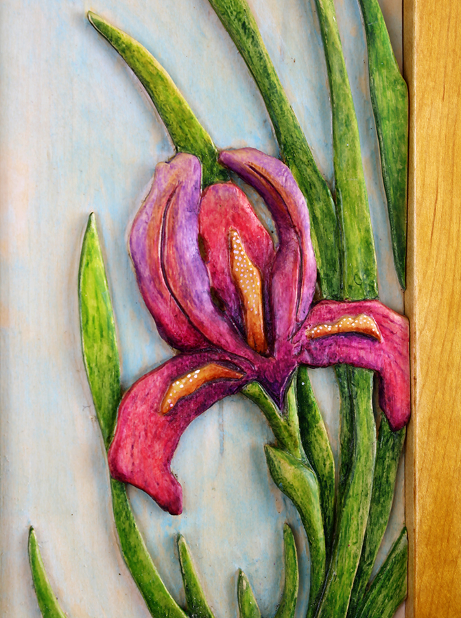 Iris Carving by Robert W. Lang