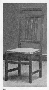 Harvey Ellis Chair from the Craftsman Magazine