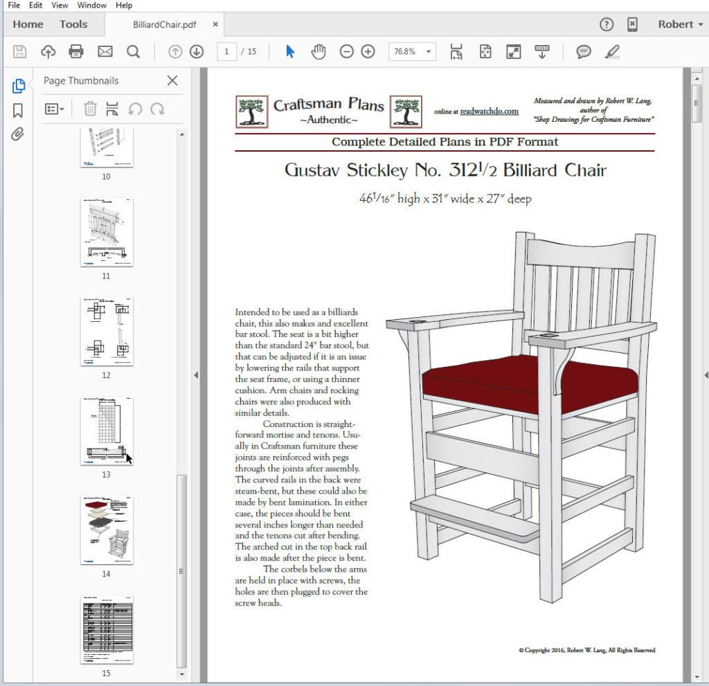 Pdf Format Reproduction Furniture Plansreadwatchdo Com
