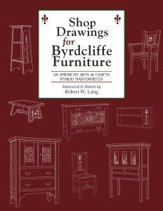 Shop Drawings for Byrdcliffe Furniture