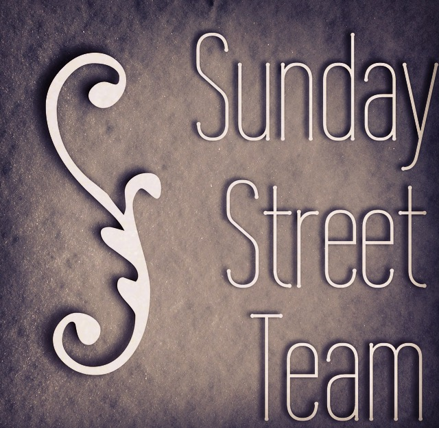 Sunday Street Team- August Author!