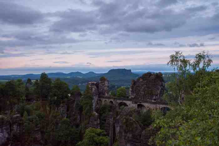Things to do in Saxon Switzerland: Picturesque Bastei bridge is one of it. Don't miss these top 10 places in Saxon Switzerland.