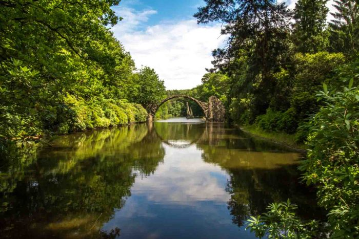 Top fairytale place in Germany: Devil's bridge in Kromlau - don't miss to visit Rakotz bridge!