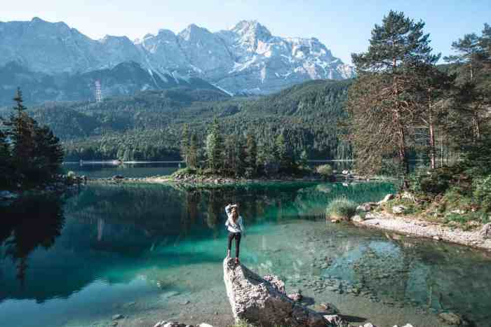 Best photo spots of Lake Eibsee