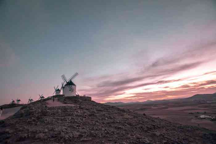Don Quixote Windmills in Spain