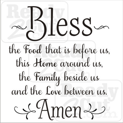 Bless the food, home, family and love download vector files