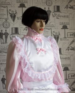Hi Neck Frilly Sissy Dress (Long Sleeved) 2