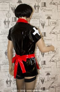 Tulsa PVC Nurse Dress – Made Here in Black & Red – Ask About Other Colour Options 3