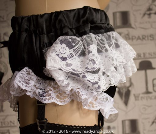 Sissy Satin Panties With 6 Removable Suspender Clips 4