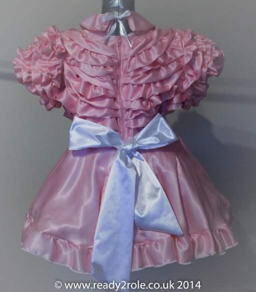 Bow Peek Sissy Ruffle Dress – Pink Version 0 4