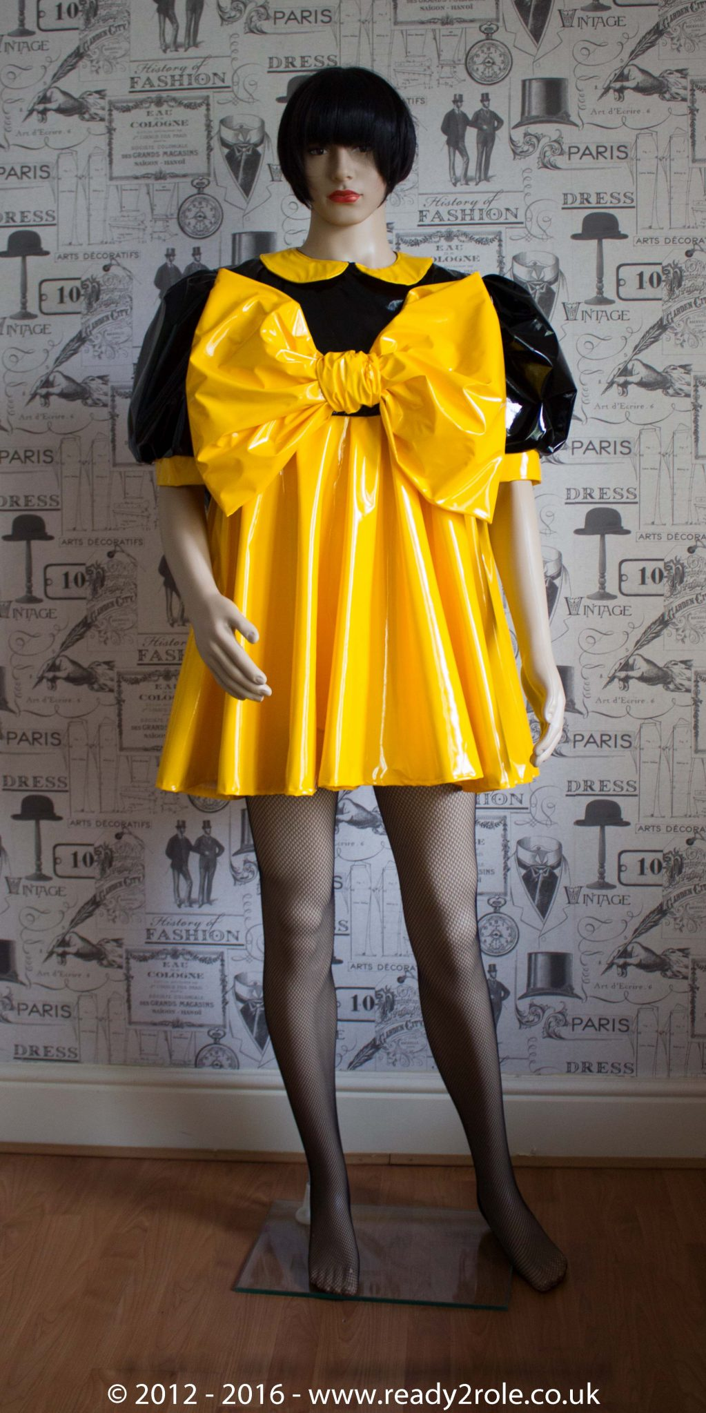 """The """"Bow Kay"""" Sissy Dress in PVC – Ask About Colour Options"""