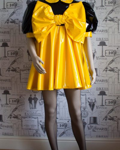 "The ""Bow Kay"" Sissy Dress in PVC – Ask About Colour Options 1"