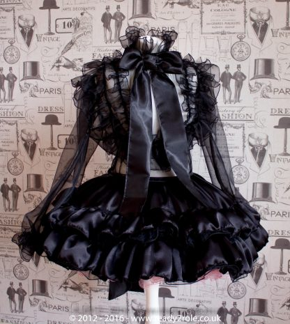 The Dee Bowie – Satin & Organza Dress With Bows & Ruffles – Ask About Colours 1
