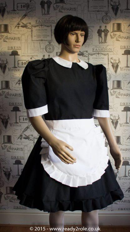 FPJ Maid to Serve – Cotton Sissy Maid Dress With Half Apron 3