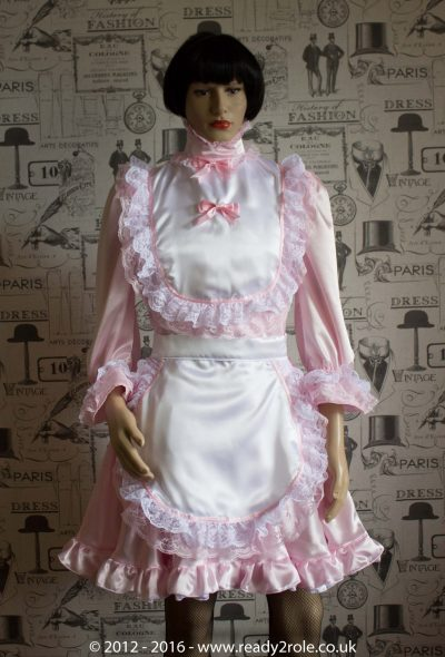 Hi Neck Frilly Sissy Dress (Long Sleeved) 1