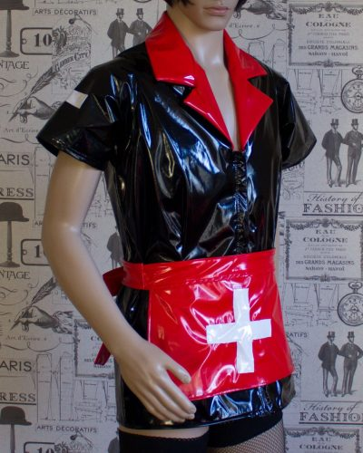 Tulsa PVC Nurse Dress – Made Here in Black & Red – Ask About Other Colour Options 1