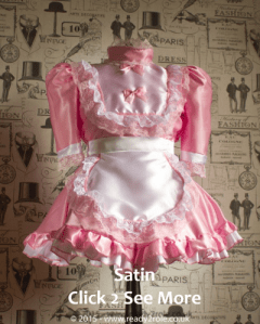 Hi Neck Frilly Sissy Dress
